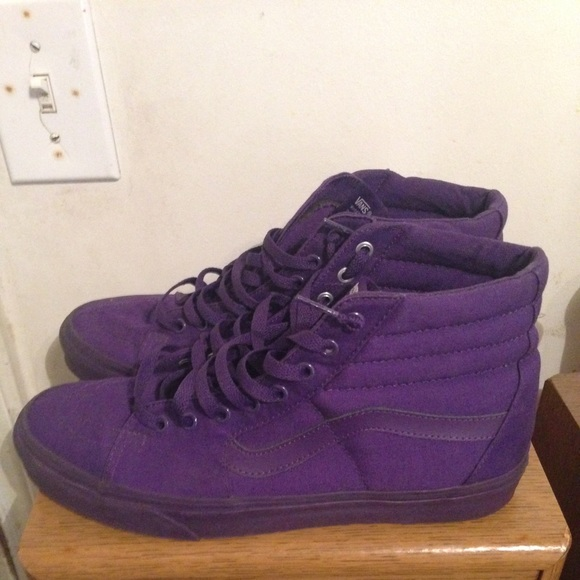 all purple vans chaussures